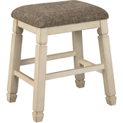 Signature Design by Ashley Bolanburg Upholstered Stool 2 pk.