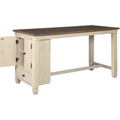 Signature Design by Ashley Bolanburg Counter Storage Table