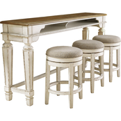 Signature Design by Ashley Realyn 4 pc. Counter Table Set