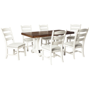 Signature Design by Ashley Valebeck 7 pc. Dining Room Set: Table and 6 Side Chairs