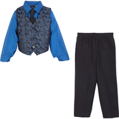 Hudson Ferrell Toddler Boys Vest, Shirt, Pants and Tie 4 pc. Set