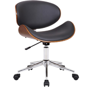 Armen Living Daphne Modern Office Chair in Faux Leather