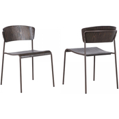 Armen Living Nick Dining Accent Chair 2 pk.
