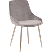 Armen Living Heidi Velvet Dining Accent Chair