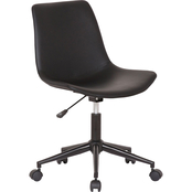 Armen Living Optima Adjustable Black Faux Leather Task Chair