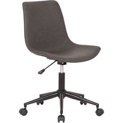 Armen Living Optima Adjustable Grey Faux Leather Task Chair