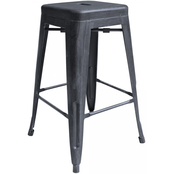 Armen Living Zed Industrial Backless Counter Stool
