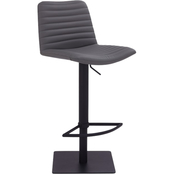 Armen Living Carson Black and Grey Adjustable Barstool