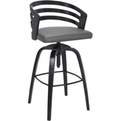Armen Living Kiara Adjustable Barstool