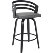 Armen Living Jayden Swivel Counter Stool