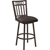 Armen Living Olympia Swivel Counter Stool
