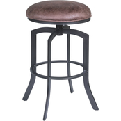 Armen Living Studio Auburn Bay and Brown Counter Stool