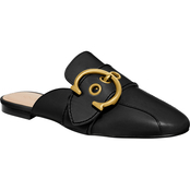 COACH Women's Sullivan C Buckle Leather Loafer Slides