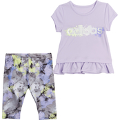 adidas Infant Girls Power Tee and Capri Tights 2 pc. Set