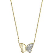 Effy 14K Yellow Gold Diamond Accent And Mother Of Pearl Necklace