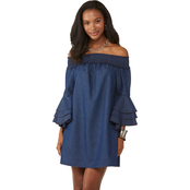 JW Ruffle Sleeve Denim Dress