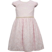 Bonnie Jean Little Girls Pink Lace Dirndl Dress