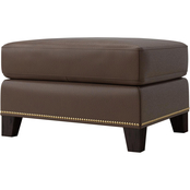 Bassett Pierce Leather Ottoman