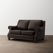 Bassett Pierce Leather Loveseat