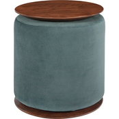 Coaster Seanna Round Accent Table with Ottoman
