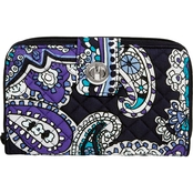 Vera Bradley Turnlock Wallet, Deep Night Paisley