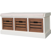 Decor Therapy Melody Three Drawer Storage Bench