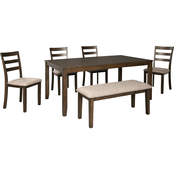 Benchcraft Drewing 6 pc. Dining Set with Bench