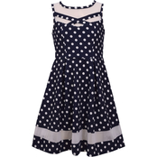 Bonnie Jean Little Girls Textured Dot Skater Dress