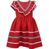 Bonnie Jean Little Girls Poly Poplin Pleated Dress