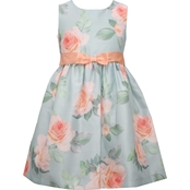 Bonnie Jean Little Girls Floral Shantung Dress