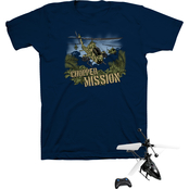 Buzz Cuts Boys Chopper Mission Tee with Flying Helicopter