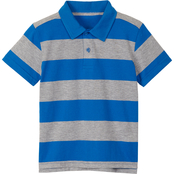Buzz Cuts Boys Jersey Wide Stripe Polo Shirt