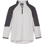 Buzz Cuts Boy Raglan Quarter Zip Top