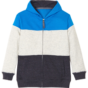 Buzz Cuts Boys French Terry Contrast Color Hoodie Jacket