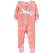 Carter's Toddler Girls Unicorn 1 pc. Footed Pajamas