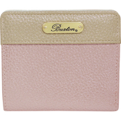 Buxton Metallic Tri Color Medium Snap Billfold