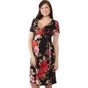 Planet Motherhood Maternity Floral Faux Wrap Dress