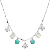 Lucky Brand Floral Charm Necklace