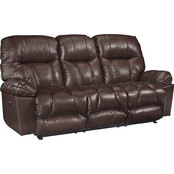 Best Home Furnishings Retreat Power Leather Reclining Sofa