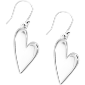 Lucky Brand Silvertone Heart Earrings