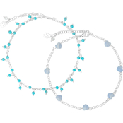 Lucky Brand Heart and Turquoise Anklet
