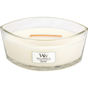 WoodWick White Teak Ellipse Glass Candle