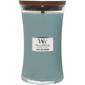 WoodWick Blue Java Banana 7 in. Hourglass Candle