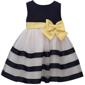 Bonnie Jean Infant Girls Poplin to Ribbons Dress