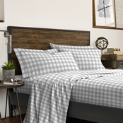 IZOD Buffalo Check Gray Stripe Sheet Set