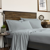 IZOD Solid High Rise Gray Sheet Set