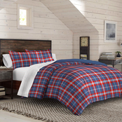 IZOD Bryon Plaid Reversible Comforter Set