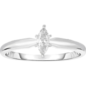 14K White Gold 1/4 ct. Diamond Solitaire Engagement Ring