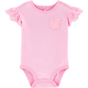 OshKosh B'gosh Infant Girls Eyelet Jersey Bodysuit