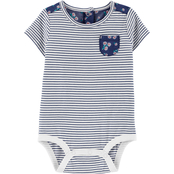 OshKosh B'gosh Infant Girls Stripes and Daisies Bodysuit